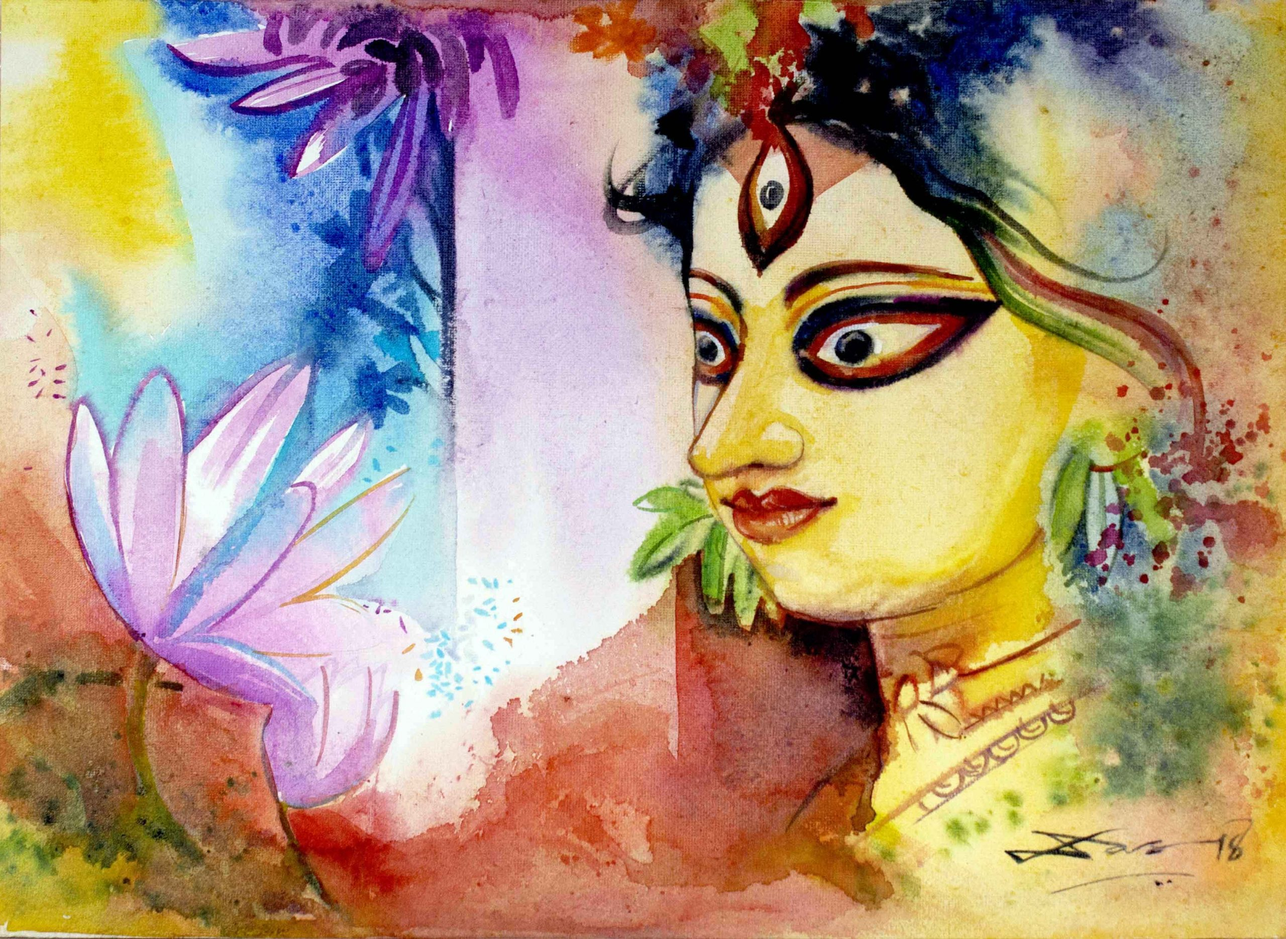 Durga Paintings And Its Aesthetics And Myths